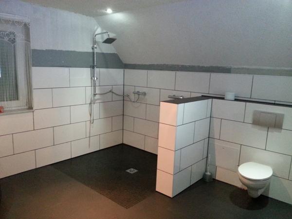 unsere Dusche ist da