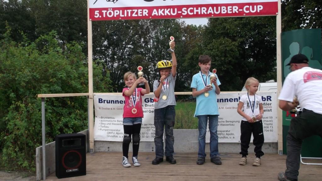 Akkuschrauberrennen Siegerehrung