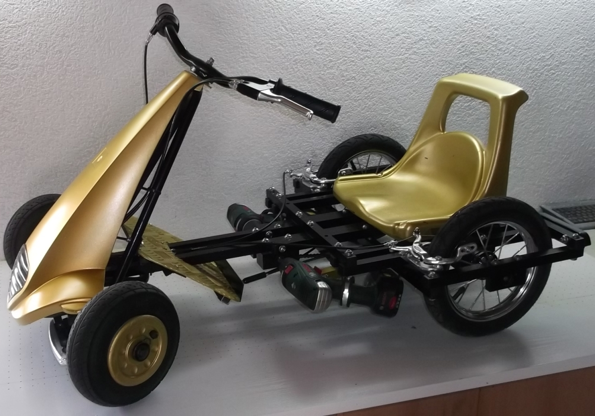 Akkuschrauberrenner – Kinderauto mit Akkuschrauberantrieb selber bauen