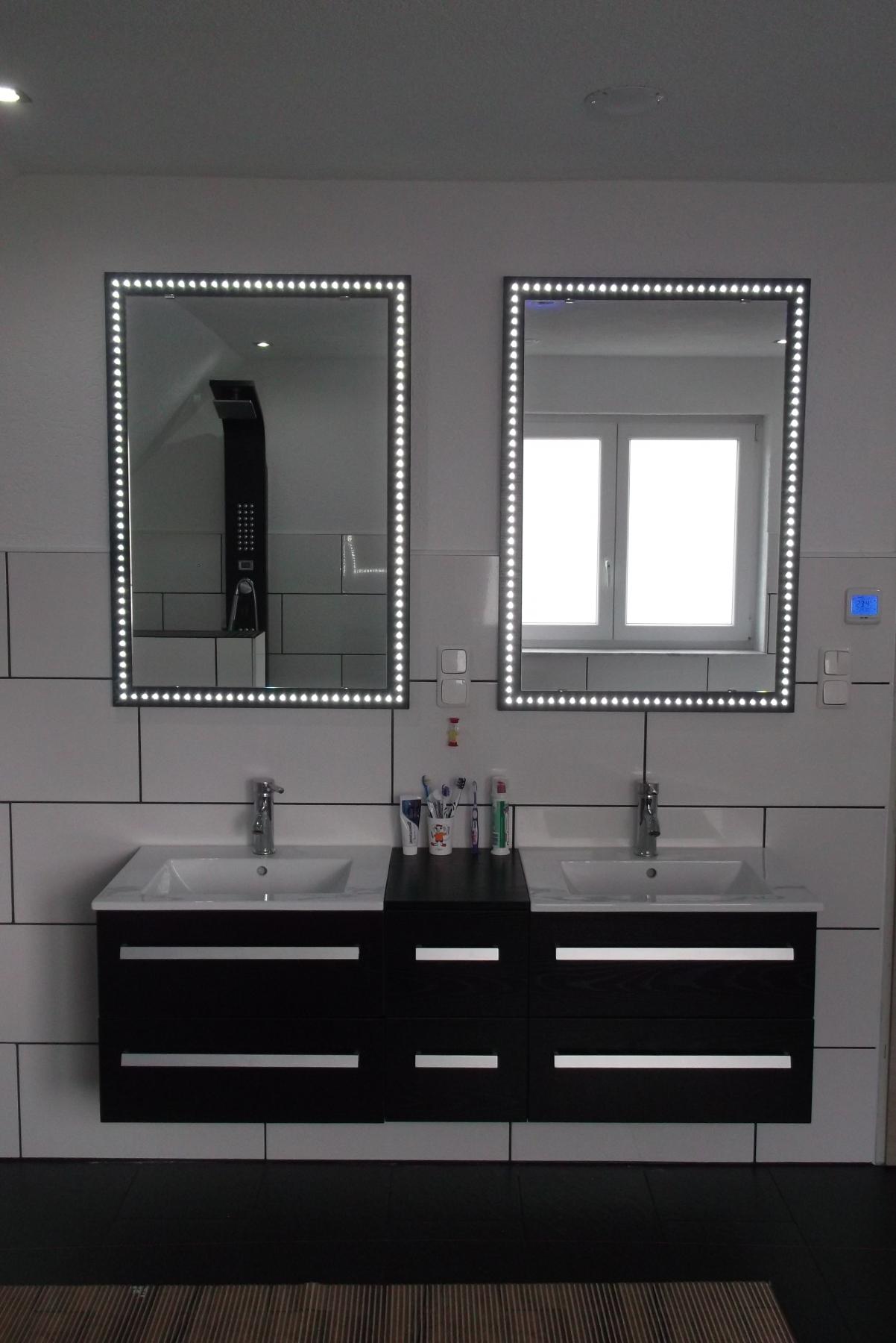 LED beleuchtete Badspiegel