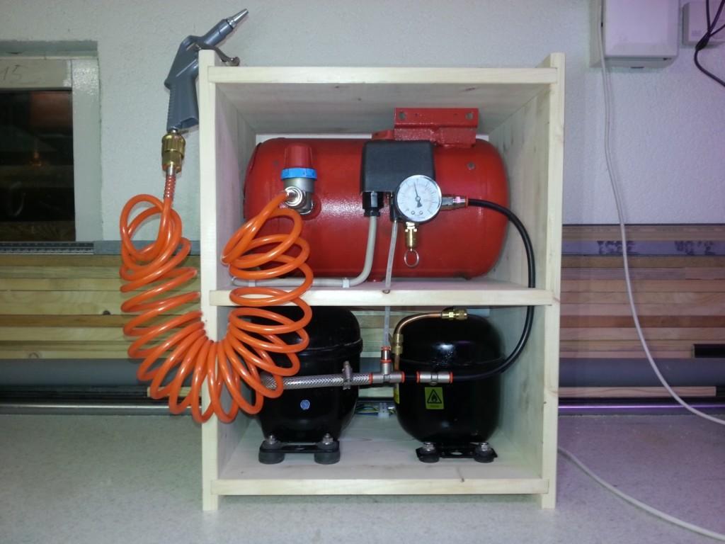 Kompressor aus Kühlschrankkompressoren