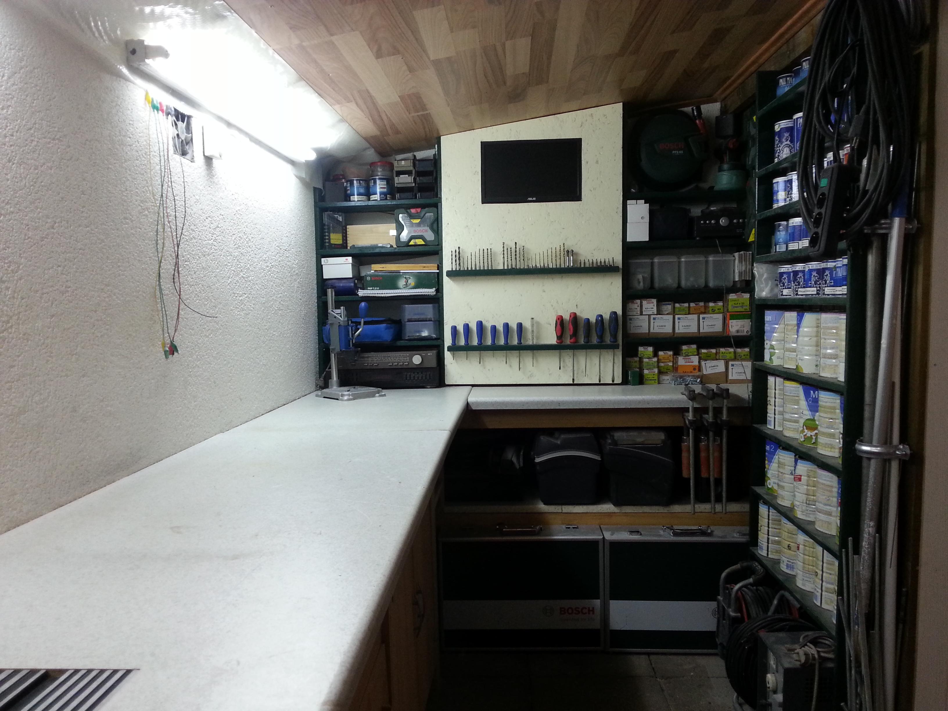 Werkstatt selbst gebaut