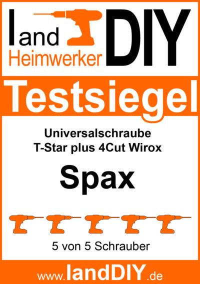 Testsiegel Spax