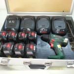 Koffer für Akkus und Ladegeräte