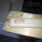 LED-Schreibtischlampe aus Holz