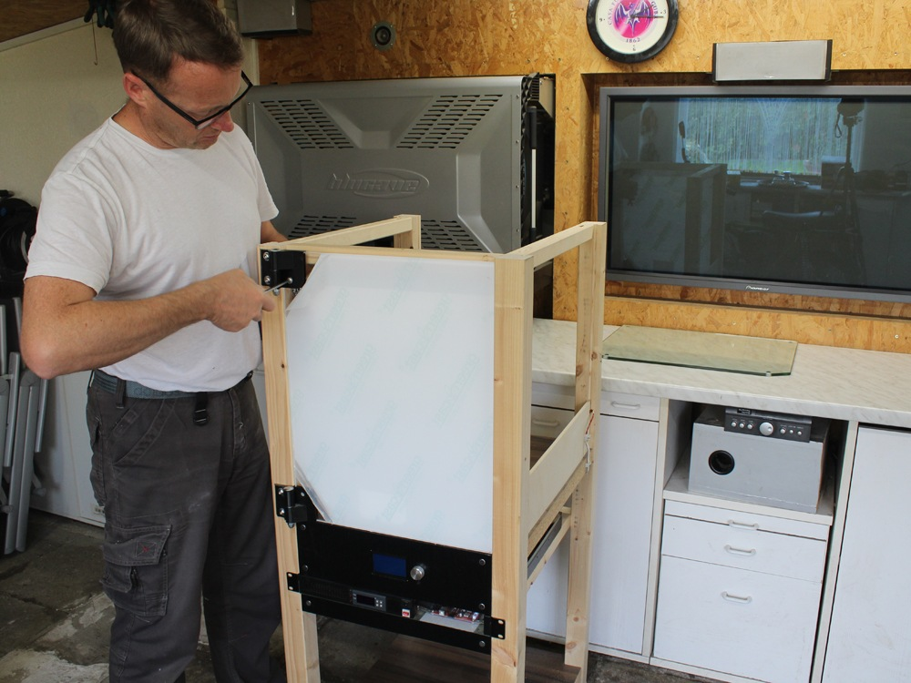 Druckraum mit Tür aus Plexiglas