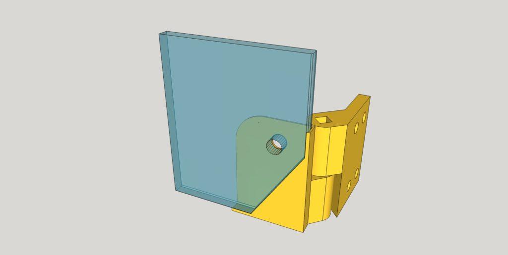 Scharnier für 3D-Drucker Gehäuse