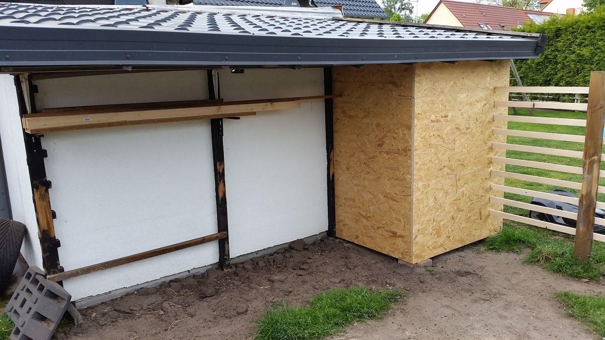 Mähroboter Garage selber bauen