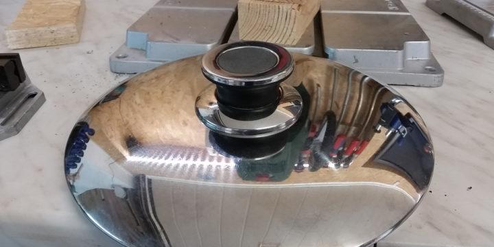 Topfdeckel reparieren und neues Gewinde in den Griff schneiden