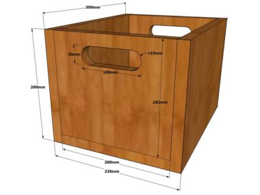 Holzkiste selber bauen - Zeichnung