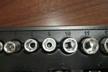 Steckschlüssel Beschriftung