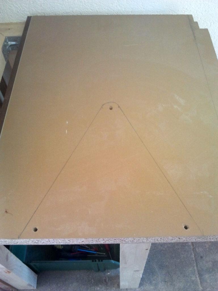 Tisch für Säge bauen