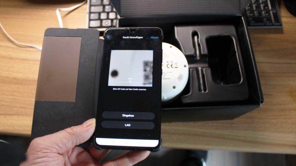 Reolink Kamera QR-Code einlesen