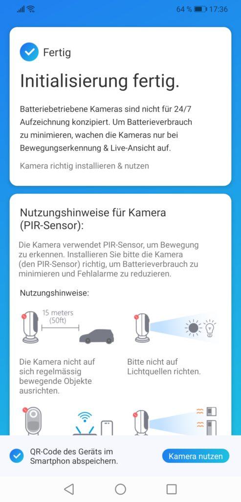 Reolink App Kamera anlernen