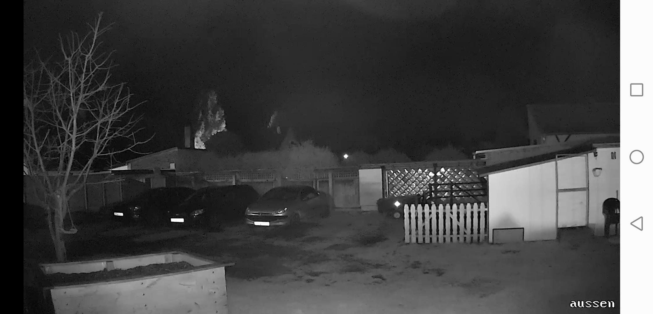 Überwachungskamera Test Bildqualität Nacht mit Infrarot