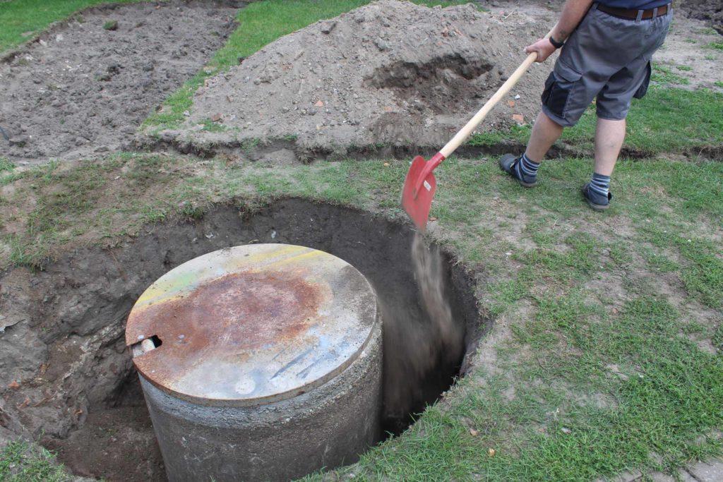 Brunnen im Garten verfüllen